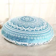 Decorative Floor Cushion Pillow Seating Throw Bohemian Indian Ottoman 35'' Cover #Handmade #ArtDecoStyle #CushionCoverPillowCoverFloorCover