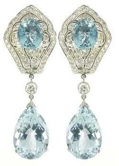 shussetumblr — beautyblingjewelry: Edwardian aquamarine fashion...