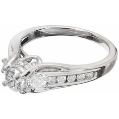 Preowned Queen Crown Diamond Gold Engagement Ring ($2,640) ❤ liked on Polyvore featuring jewelry, rings, multiple, white diamond ring, gold diamond rings, pre owned diamond rings, gold engagement rings and 14k yellow gold ring