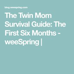 The Twin Mom Survival Guide: The First Six Months - weeSpring  