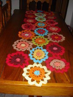 Caminos De Mesa Crochet  Hasta 1m De Largo - $ 500,00