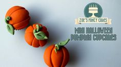Halloween cake and cupcake ideas. In this video I show you how to make a Halloween pumpkin cupcake. You could use fondant, flower paste, mexican paste, sugar...