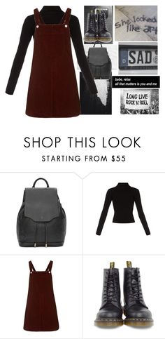 """OOTD #129"" by blushingfreckles ❤ liked on Polyvore featuring rag & bone, Haider Ackermann, Topshop and Dr. Martens"