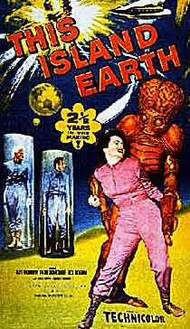 This Island Earth, 1955 B movie that was popular for its special effects at the time it was released. Tells the story of Exeter who comes to Earth seeking help from our scientists on a doomed mission to save his planet, Metaluna, from the Zagons.