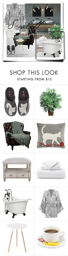 """""""Untitled #110"""" by meryaaa ❤ liked on Polyvore featuring Haflinger, Nearly Natural, Martha Stewart, Pigeon & Poodle, Agent Provocateur, Yamazaki and J.Crew"""