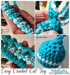 Crochet How To: Beginner Cat Toy Project and Free Pattern Link - easy enough for new crocheters as well as kids, you can personalize it in so many ways.
