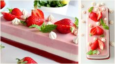 Strawberry Panna Cotta/ Panna Cotta alle Fragole
