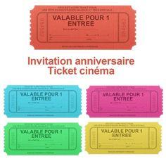 faux ticket de cinéma
