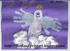Hand & Foot Angel Craft - Fun Handprint Art