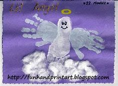 Angel hand and foot print
