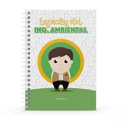 Cuaderno XL - Las notas del ingeniero ambiental, encuentra este producto en nuestra tienda online y personalízalo con un nombre. Notebook, Cover, Engineer, Notebooks, Report Cards, Store, The Notebook, Exercise Book