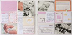 Project Life - baby girl edition, simple, sweet, focus is stories and memories