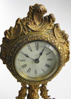 Antique Art Nouveau Gilded Mantle Clock by GrandAntiqueDecor, $62.00