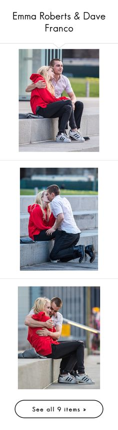 """Emma Roberts & Dave Franco"" by grandmasfood ❤ liked on Polyvore"