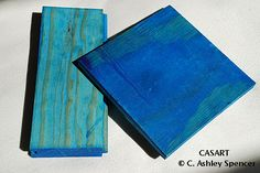 Blue Wood Samples. Photo by C. Ashley Spencer