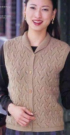 örgü 10 – Knitting patterns, knitting designs, knitting for beginners. Baby Knitting Patterns, Baby Sweater Knitting Pattern, Knit Cardigan Pattern, Lace Knitting, Knitting Designs, Knit Crochet, Embroidery Suits, Cardigans For Women, Dame