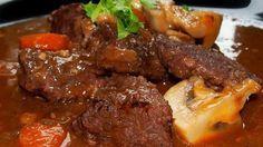 Burgunské hovězí No Salt Recipes, Cooking Recipes, Appetizer Recipes, Appetizers, Modern Food, Pot Roast, Food Inspiration, Carne, Stew