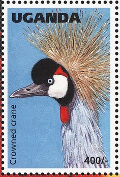 Grey Crowned Crane stamps - mainly images - gallery format