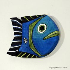 Painted Wood Fish Decor Mississippi Folk Art by TaylorArts on Etsy