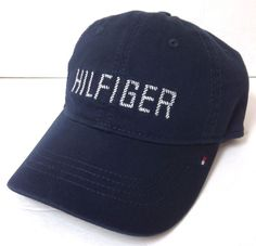 68826e8ce45 New  26 TOMMY HILFIGER HAT Navy Blue Relaxed Fit Unstructured Dad Cap Men  Women
