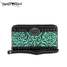 TR15W003 Montana West Trinity Ranch Tooled Design WalletTurquoise * Check this awesome product by going to the link at the image.