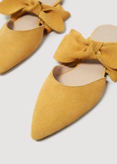 Pantofi din piele cu fundă