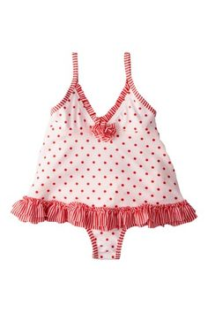 Under $10!!! Absorba Dot Ruffled Two Piece Swimsuit by Kids' Swimwear on @HauteLook