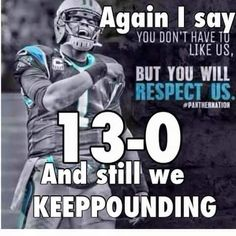 6ae599514 Carolina Panthers  13-0  keeppounding