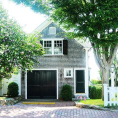 Garage Doors – Types, Considerations, And Ideas – The Homeward View Garage Guest House, Carriage House Garage, Garage Loft, Garage Studio, Carriage House Apartments, Garage Apartments, Garage Door Design, Garage Doors, Shed Plans