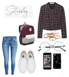 """""""Saturday"""" by aaliyah-parker ❤ liked on Polyvore featuring Elizabeth and James, Vans, Victoria's Secret and Kendra Scott"""