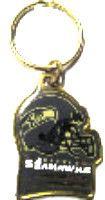 Seattle Seahawks brass key ring