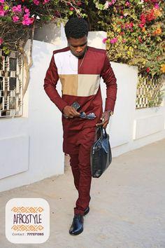 Nigerian Men Fashion, African Print Fashion, Fashion Prints, African Lace, African Wear, Md Fashion, Mens Kurta Designs, Kaftan, African Shirts