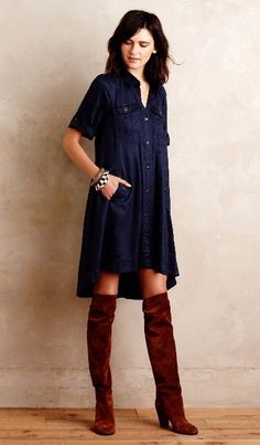 Military Swing Shirtdress #anthrofave