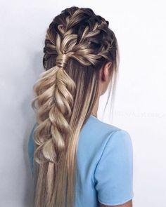 47 Braided hairstyle inspiration , braids ,hairstyles ,braided ponytails , textured braids - Most Beautiful Hairstyles Braided Ponytail Hairstyles, My Hairstyle, Box Braids Hairstyles, Cool Hairstyles, Braided Updo, Black Hairstyles, Hairstyles 2016, Braids Long Hair, Hair Plaits