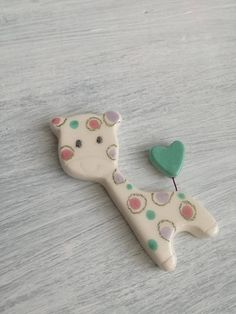 Baptism Favors-Birth gift-Giraffe ceramic with magnet-ceramic