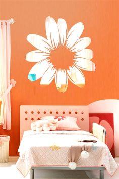 Wall Decals  Flower Mirror-Reflective Decal Mirror-WALLTAT.com Art Without Boundaries