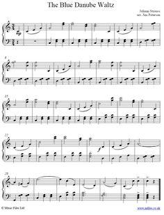 Blue Danube main theme for piano from Strauss' WaltzThe Blue Danube main theme for piano from Strauss' Waltz Piano Sheet Music Classical, Violin Sheet Music, Piano Music, Easy Piano Sheet Music, Sheet Music Pdf, Jingle Bells Sheet Music, Violin Songs, Main Theme, Teaching Music