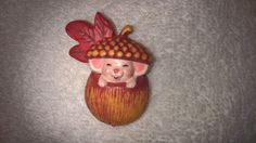 1985 Hallmark Mouse in Acorn Pin by RobandJensOddsnEnds on Etsy