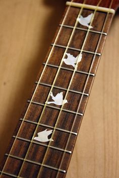 Dove Fret Markers for UKULELE  Inlay Stickers Decals