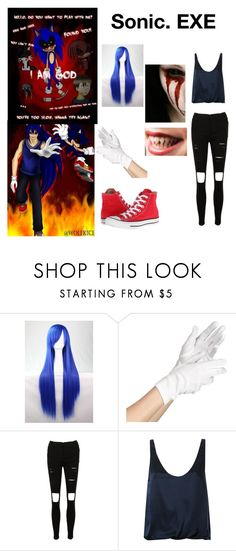 """""""Sonic.EXE Creepypasta Girl Outfit"""" by marcykxx ❤ liked on Polyvore featuring EXE', 3.1 Phillip Lim and Converse"""