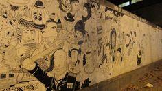 Primera Sección del Mural Terminada  (Vagabundo Boutique / Providencia).