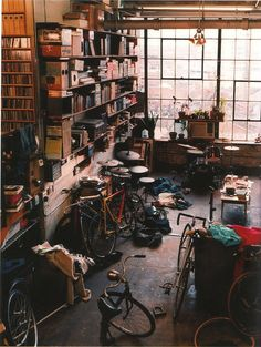 I dream of living in a loft in NYC with lots of books, lots of bikes, lots of windows, lots of creative space.