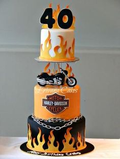 Harley Davidson Motorcycle Cake by trudy