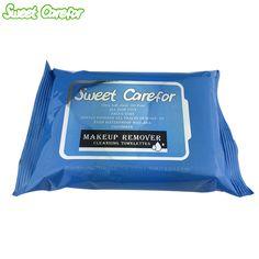 甘いcareforメイク落としウェットワイプクレンジングtowelettes 20ピース/パックアルコール送料ウェットワイプ用スキンケア