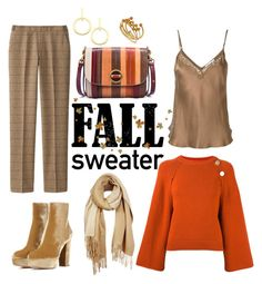 """Fall Sweater"" by sweetdee55 ❤ liked on Polyvore featuring Vanessa Bruno, Uniqlo, Gianvito Rossi, Tory Burch, Mes Demoiselles..., Unpaired, Vita Fede and Isabel Marant"