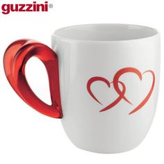 Red heart shaped napkin rings | Guzzini Love Mugs Set of 2