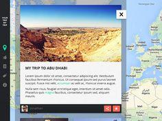 Your Trip My Trip designed by Jonathan Lapierre. Flat Design, Ui Design, Digital Tablet, Abu Dhabi, Norway, Ireland, Germany, The Unit, France