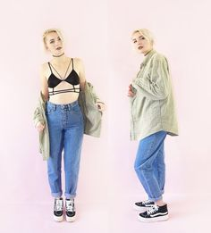 Dark Wash Early 90s Mom Jeans Vintage Grunge Jeans by ACTUALTEEN