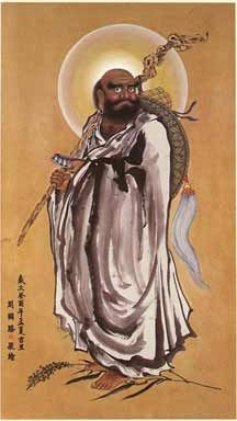 damo+bodhidharma | ... as bodhidharma traveled east through china to spread his particular