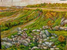 Scenery by Maria Luisa Ibanez, a Spanish artist. Spanish Artists, Ibanez, Golf Courses, Scenery, Painting, Spanish Art, Landscape, Painting Art, Paintings